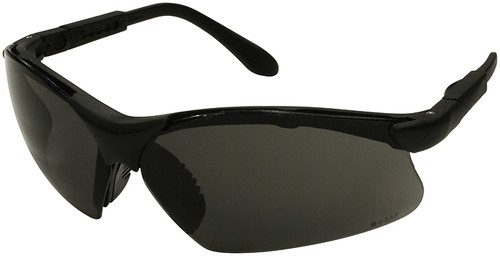 Radians Revelation Safety Glasses with Black Frame and Smoke Anti-Fog Lens