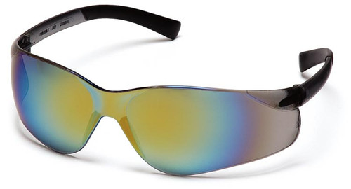 Pyramex Ztek Safety Glasses with Gold Mirror Lens
