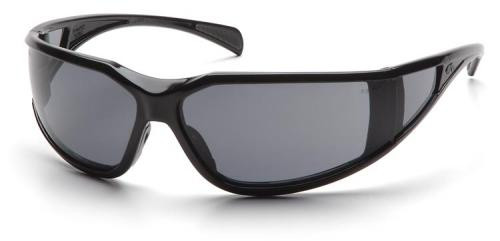 Pyramex Exeter Safety Glasses with Black Frame and Gray Anti-Fog Lens