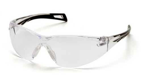 Pyramex PMXSlim Safety Glasses with Black Temples and Clear Anti-Fog Lens