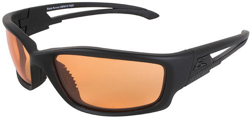 Edge Blade Runner Tactical Safety Glasses with Black Frame and Tiger's Eye Lens