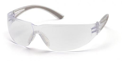 Pyramex Cortez Safety Glasses with Gray Temples and Clear Lens