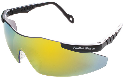 Smith & Wesson Magnum Safety Glasses with Gold Mirror Lens