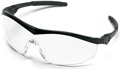 Crews Storm Safety Glasses with Black Frame and Clear Lens