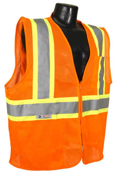 Radians SV22-2Z Class 2 Economy Mesh Hi-Viz Orange Safety Vest