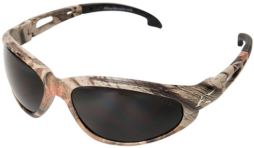 Edge Dakura Safety Glasses with Camo Frame and Smoke Lens