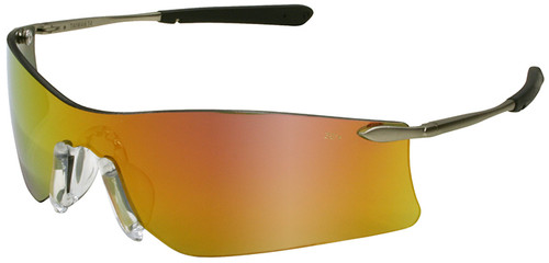 Crews Rubicon Safety Glasses with Fire Mirror Lens