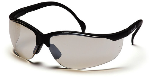 Pyramex Venture 2 Safety Glasses with Black Frame and Indoor/Outdoor Lens