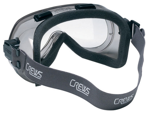 Crews Verdict Indirect Vent Safety Goggle with Foam Lining and Clear Anti-Fog Lens