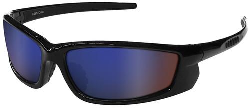 Radians Voltage Safety Glasses with Black Frame and Electric Blue Lens