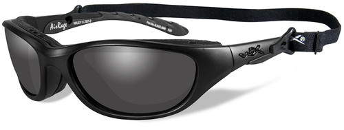 Wiley X AirRage Black Ops Safety Sunglasses with Matte Black Frame and Smoke Grey Lens