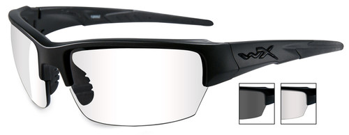 Wiley X Saint Safety Glasses with Matte Black Frame and Clear and Gray Lenses