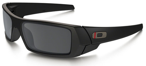 Oakley SI Thin Red Line Gascan Sunglasses with Satin Black Frame and Black Iridium Lens