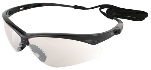 Jackson Nemesis Safety Glasses with Black Frame and Indoor/Outdoor Lens