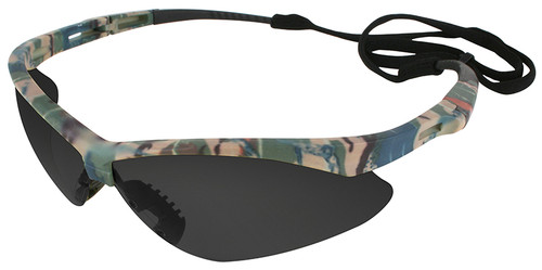 Jackson Nemesis Safety Glasses with Camo Frame and Anti-Fog Smoke Lens