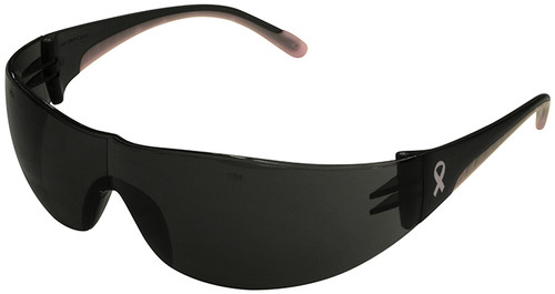 Bouton/PIP Eva Women's Safety Glasses with Pink Temple Trim and Gray Lens