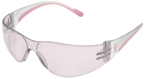 Bouton/PIP Eva Petite Women's Safety Glasses with Pink Temple Trim and Pink #1 Lens