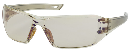 Bouton Captain Safety Glasses with Brown Temple and Indoor/Outdoor Blue Anti-Fog Lens