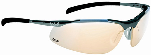 Bolle Contour Metal Safety Glasses with Silver Frame and ESP Anti-Scratch Lenses