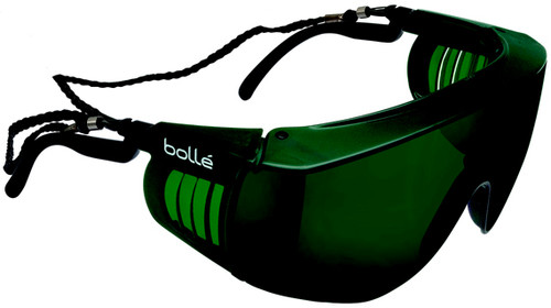 Bolle Override Safety Glasses with Black Temples and IR Shade 5 Anti-Scratch Lens