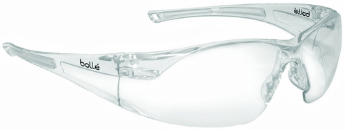 Bolle Rush Safety Glasses with Clear Anti-Scratch and Anti-Fog Lens