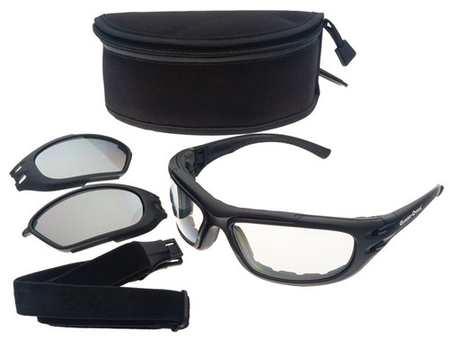 Guard Dogs G100 Safety Glasses/Goggle Kit with Black Frame and Clear and Gray Lenses