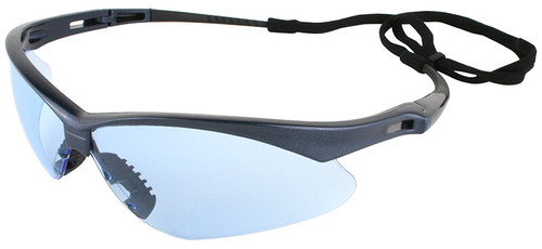 Jackson Nemesis Safety Glasses with Blue Frame and Light Blue Lens