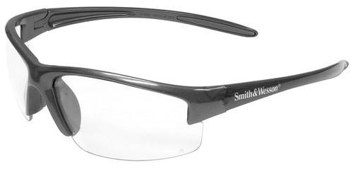 Smith & Wesson Equalizer Safety Glasses with Gun Metal Frame and Clear Lens