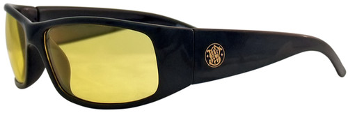 Smith & Wesson Elite Safety Glasses with Black Frame and Amber Anti-Fog Lens