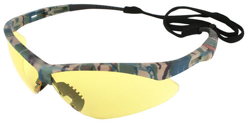 Jackson Nemesis Safety Glasses with Camo Frame and Anti-Fog Amber Lens