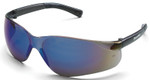 Crews Bearkat Safety Glasses with Blue Mirror Lenses