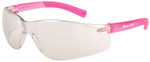 Crews Bearkat Small Safety Glasses with Pink Temples and Indoor/Outdoor Lenses