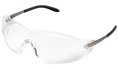 Crews Blackjack Safety Glasses with Clear Anti-Fog Lens
