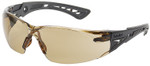Bolle Rush Plus Safety Glasses with Black/Gray Temples and Twilight Lens with Platinum Anti-Fog