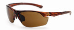 Crossfire AR3 Safety Glasses with Crystal Brown Frame and Super Dark Brown Lens
