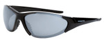 Crossfire Core Safety Glasses with Shiny Black Frame and Silver Mirror Lens