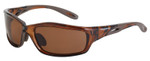 Crossfire Infinity Safety Glasses with Crystal Brown Frame and HD Brown Polarized Lens