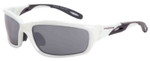 Crossfire Infinity Safety Glasses with Pearl White Frame and Silver Mirror Lens