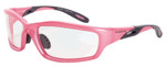 Crossfire Infinity Safety Glasses with Pearl Pink Frame and Clear Lens