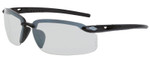 Crossfire ES5 Safety Glasses with Matte Black Frame and I/O Lnes
