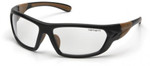 Carhartt Carbondale Safety Glasses with Black Frame and Clear Lens