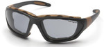 Carhartt Carthage Safety Glasses/Goggles with Black Frame and Gray Anti-Fog Lenses