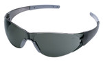 Crews CK2 Safety Glasses with Smoke Temples and Gray Anti-Fog Lens