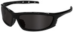 Radians Chaos Safety Glasses with Black Frame and Smoke Lens