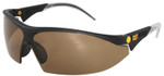 CAT Digger Safety Glasses with Black Frame and Brown Lens