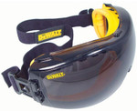 DeWalt Concealer Safety Goggles with Smoke Anti-Fog Lens