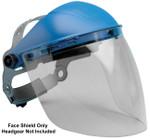 "Elvex Clear Aspherical Polycarbonate Face Shield, Anti-Fog & Anti-Static, 8"" x 16"" x 2mm"