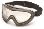 Pyramex Capstone Direct/Indirect Vent Safety Goggles with Gray Frame and Dual Clear Anti-Fog Lens