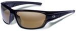Gargoyles Havoc Safety Sunglasses with Black Frame and Brown Polarized Lens