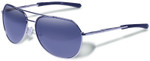 Gargoyles Victor Sunglasses with Silver Frame and Navy Gradient Polarized Lens
